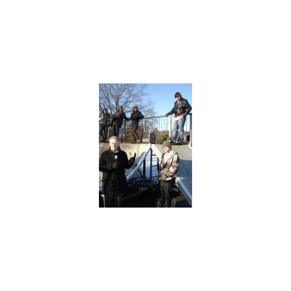 Stephen Robinson standing next to the skateramp in Chelmsford's central park