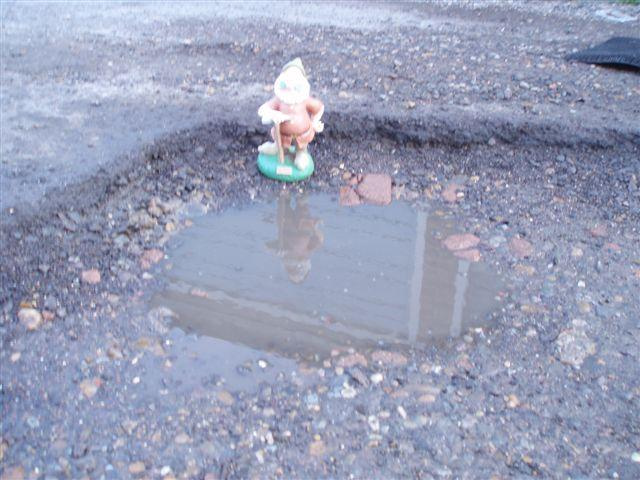 Pothole behind Torquay Road, Springfield