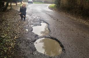 Huge potholes