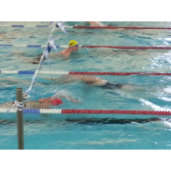 Chris Took at Swimathon 2015 (Yellow Cap, obviously)