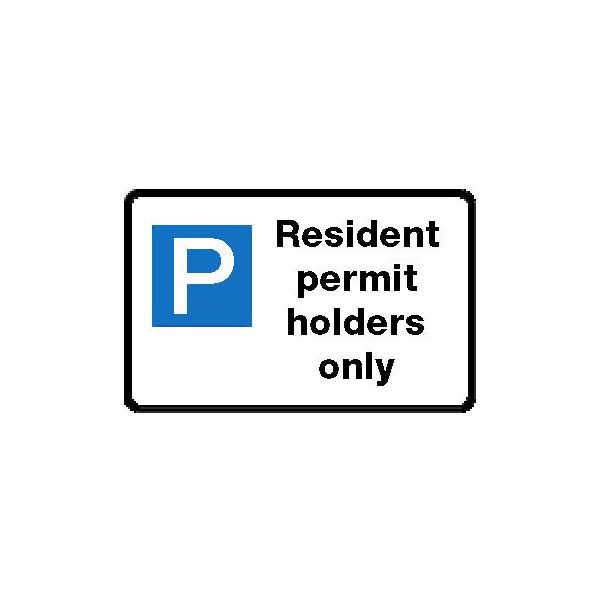 Resident permit holders only sign