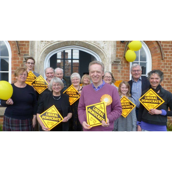 Stephen Robinson with Lib Dem team