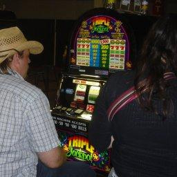 Fruit machine at a casino.