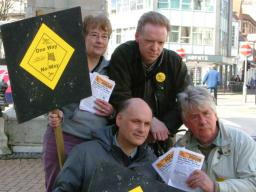 Lib Dem team are photographed for local paper