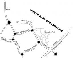 Map of North & East Chelmsford