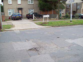 The state of the roads near the Kings Road shops