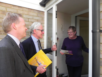Norman Lamb MP with Cllr Stephen Robinson