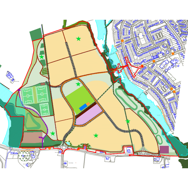 Warren Farm development west Chelmsford (Chelmsford City Council Local Plan)